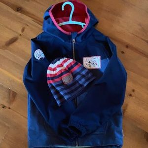 Souris Mini Fall Jacket with matching hat